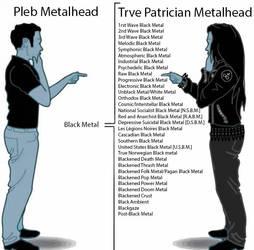 Metalhead vs Trve Patrician Black Metal by LusoSkav