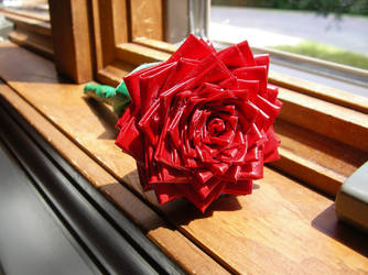 Duct Tape Rose by AnneliCyambl