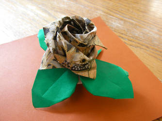 Origami Rose by AnneliCyambl