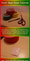 Duct Tape Rose Tutorial by AnneliCyambl