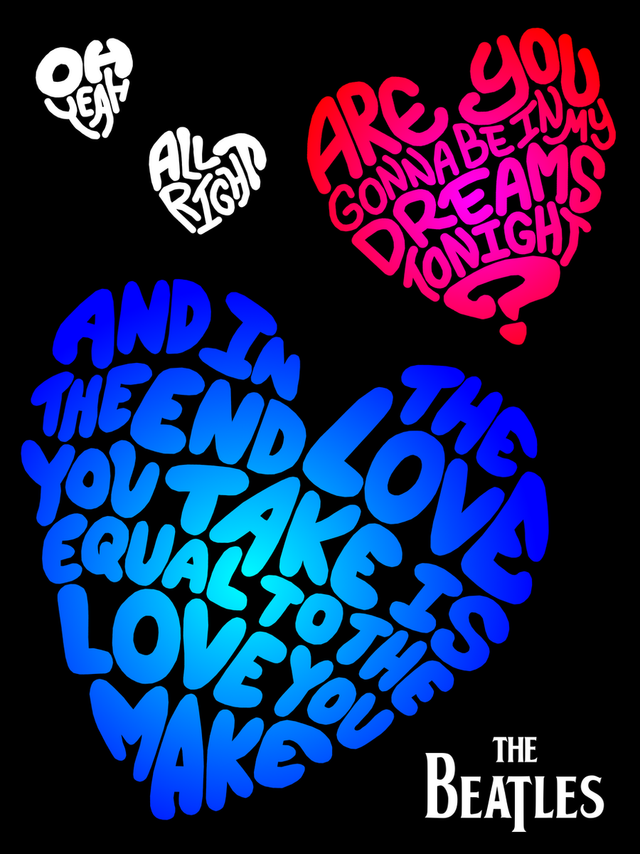 beatles poster the end by annelicyambl on deviantart. Black Bedroom Furniture Sets. Home Design Ideas