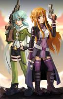 Gun Gale Asuna by bishounenizer
