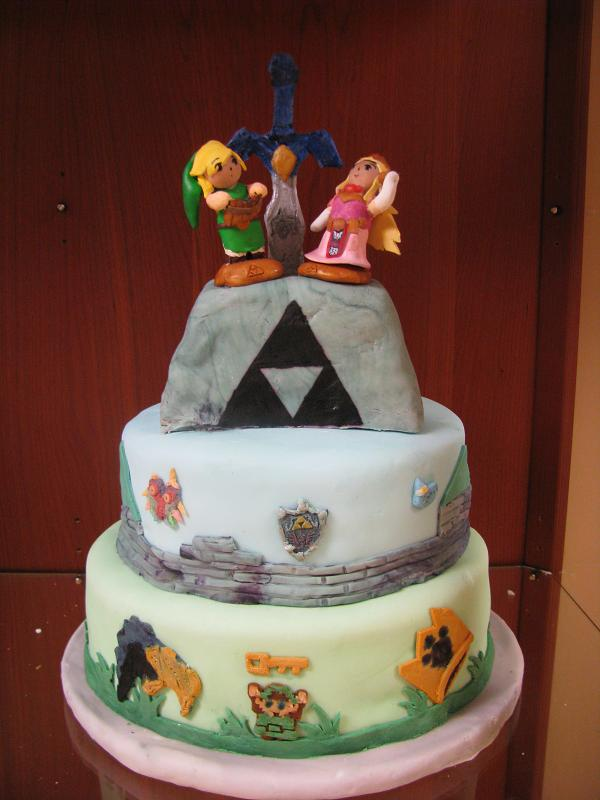 legend of zelda wedding cake topper legend of wedding cake by cocoanekoconfections on 16788