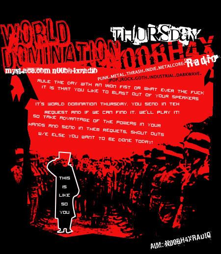 world domination thursday by shonenpunk