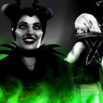 Maleficent and Riku