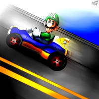 Luigi's Death Stare by FlyingPings