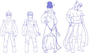 Qeios - Original Character Sketches by FlyingPings