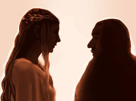 Galadriel and Gandalf by FlyingPings