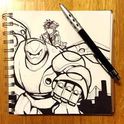 Kingdom Hearts 3 - Big Hero 6 Sketch