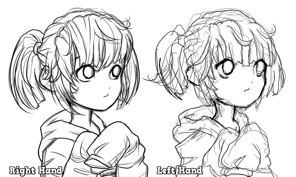 Left Hand VS Right Hand by FlyingPings