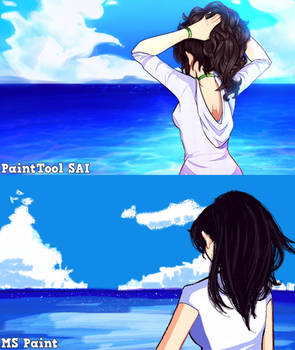 MS Paint VS PaintTool SAI
