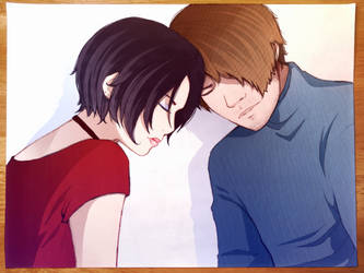 Leon Kennedy and Ada Wong by FlyingPings