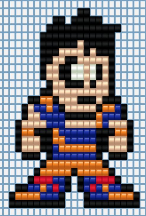 Goku Perler Bead Design by EpicMarchio