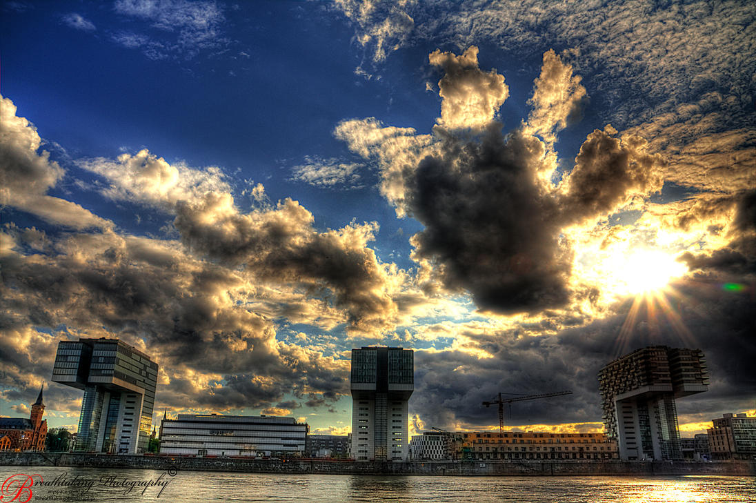 Cologne 'Kranhaeuser' II HDR by xMAXIx