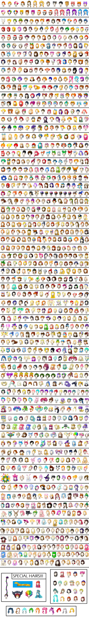 Fantage Collection - Hairs (AUG 2017 UPDATE!) by fantageemi387