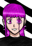 PINK DEMON GIRL ART by AmirixArt