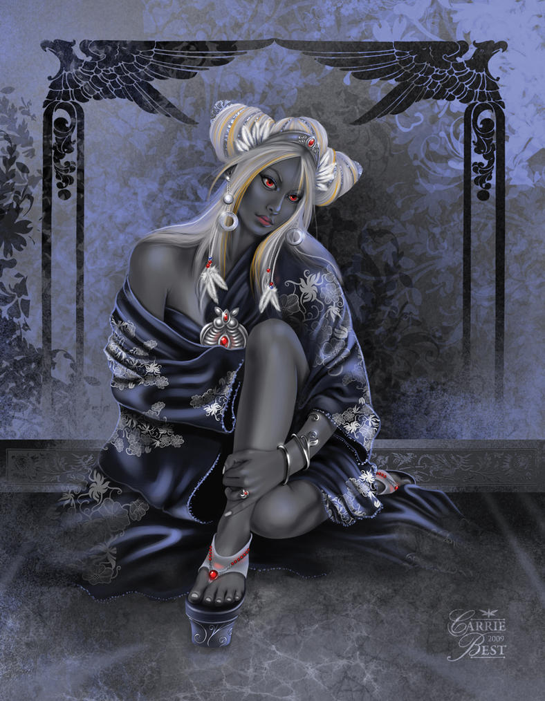 Avatars Elfes & Anges Drow_priestess_by_carriebest-d2diog5