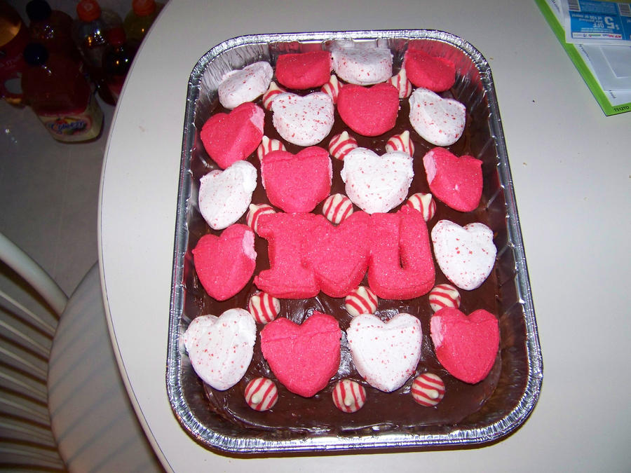Love and Kisses Valentine's Day Cake by LadyRhianwriter
