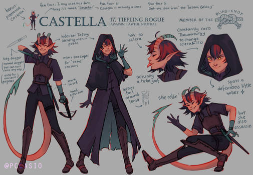 Castella Reference Sheet