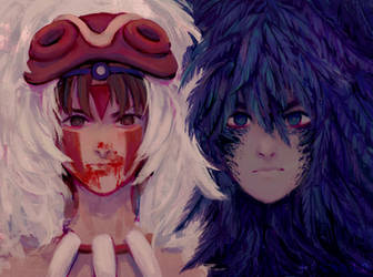 Mononoke and Howl by Pccasio