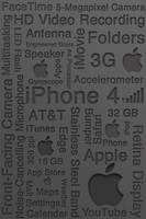 Iphone 4 Typography Wallpaper by jreed91