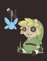Play Time with Link and Navi by KindaCreative
