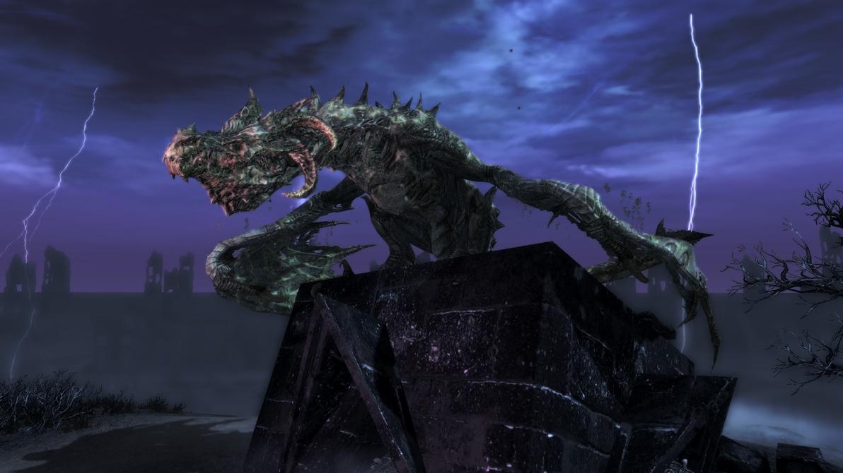 Skyrim Dawnguard: Durnehviir by Wr47h