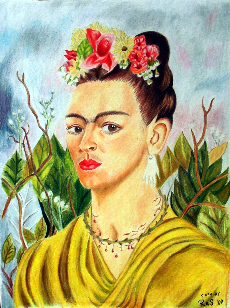Frida Kahlos self portraits deal with her physical and psychological suffering and chart her turbulent marriage to Diego Rivera