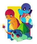 Kanto Starters Poster