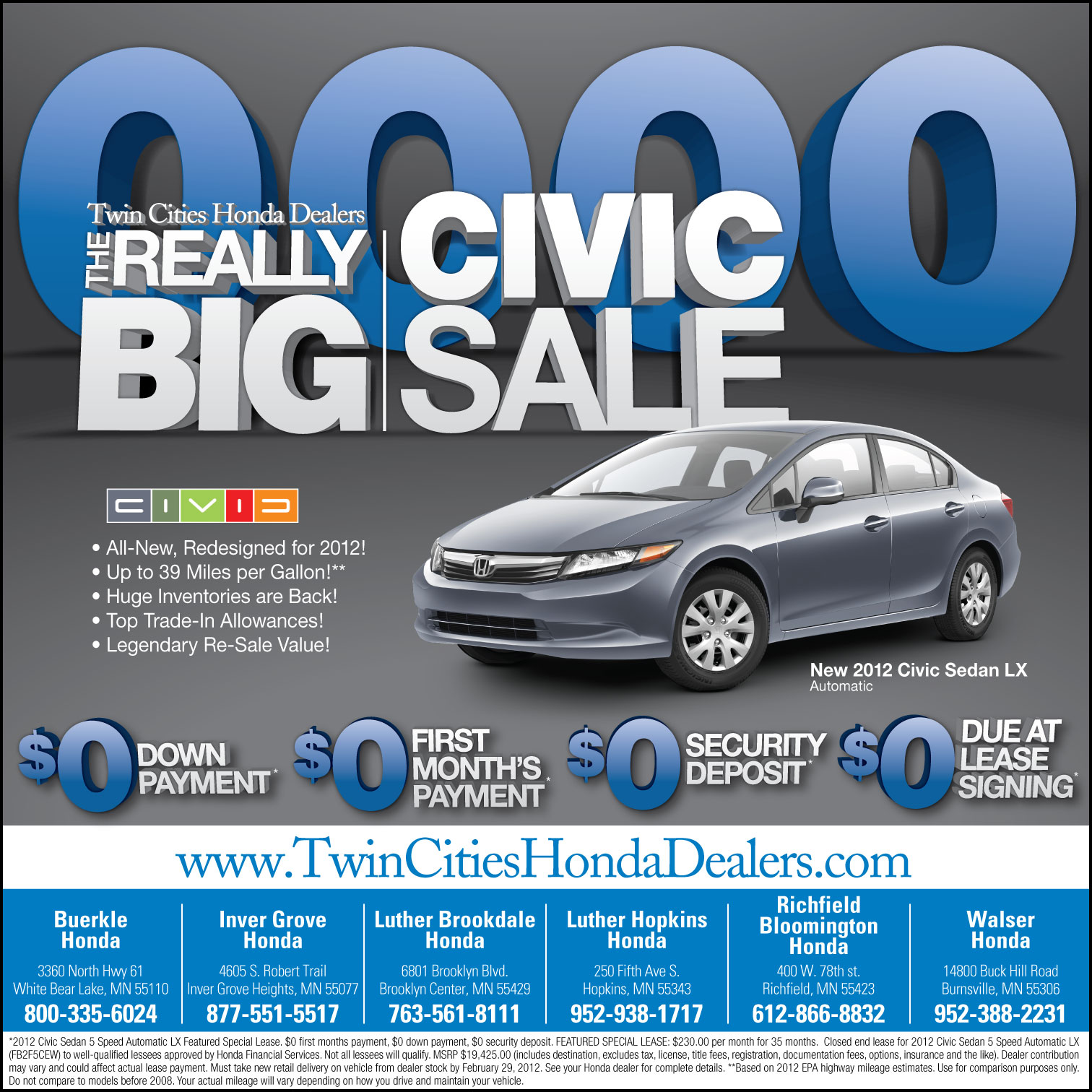 twin cities honda dealers big civic sale by tlsivart on