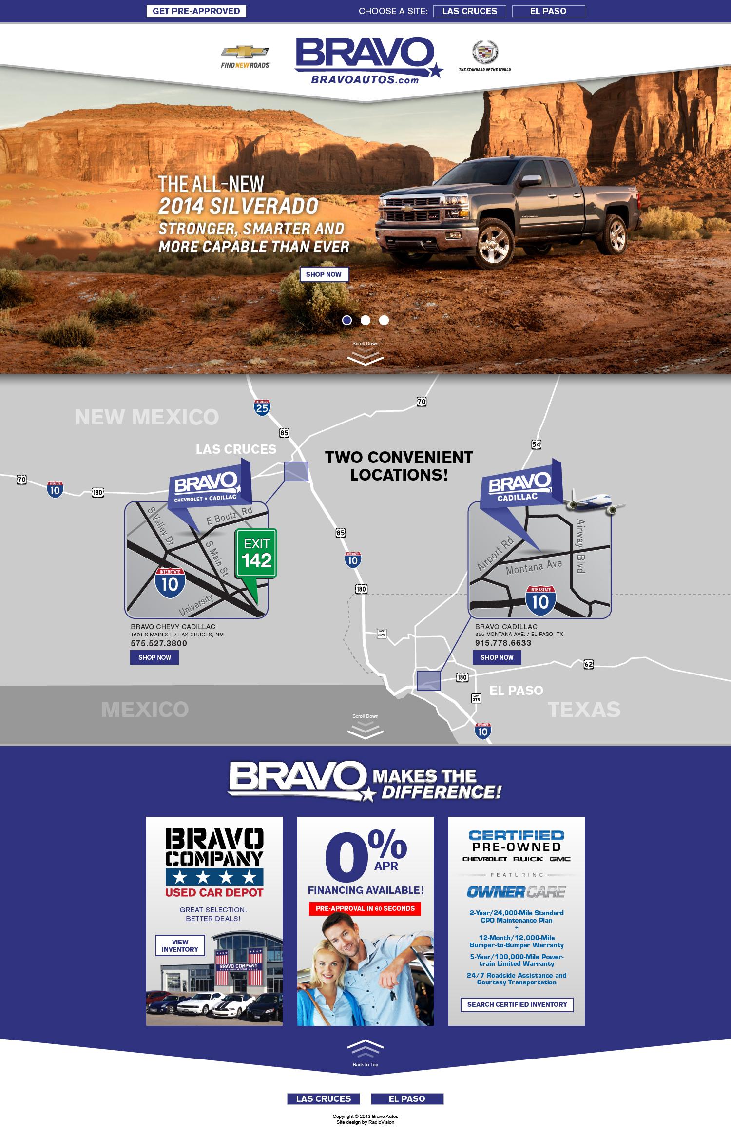 Bravo Chevrolet Landing Page by tlsivart