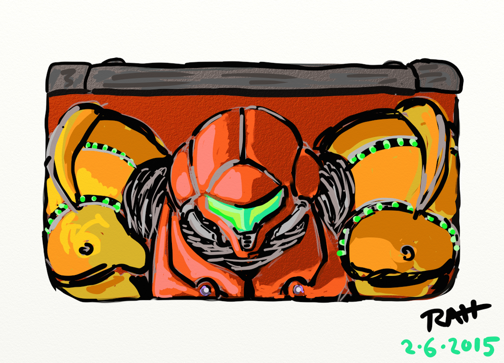 Metroid New3DS rough draft by brotherpanda
