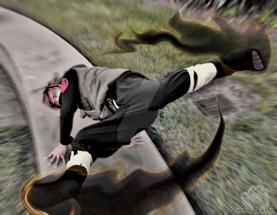 Fire Style Dark Blaze Kick! by sonicJKevin