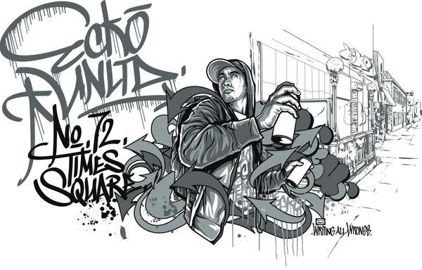 Ecko Unltd Graffiti Wallpaper