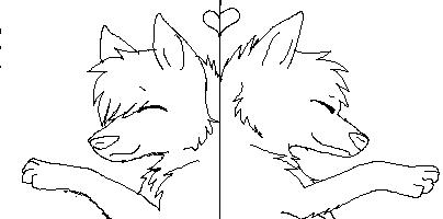 Wolf Couple Icon by XXMememeXX