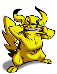 Another Americanized Pikachu by SuperStinkWarrior