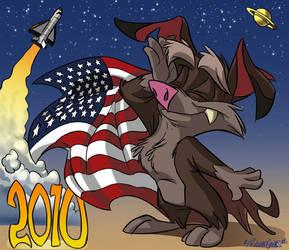 ZAP, THE HAPPY NEW YEAR BAT by SuperStinkWarrior