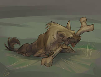 Brown Hyena by SuperStinkWarrior