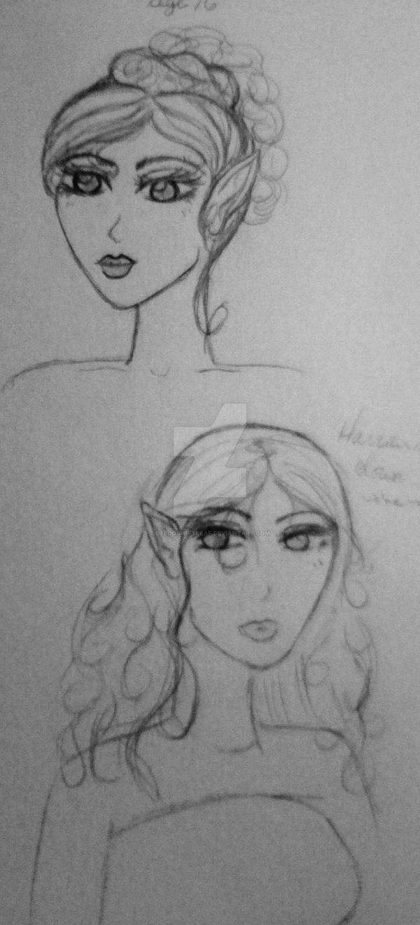 Sketch 1 - Deedolett DA:O by DeedoSwiftleaf