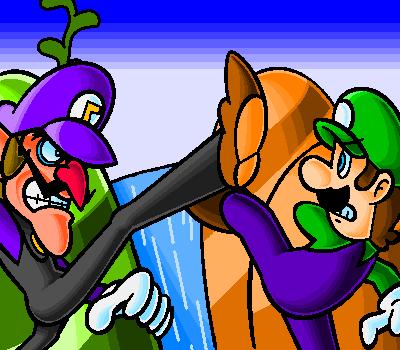 ¿Que te sugiere la imagen? (Juego) - Página 5 Luigi_VS_Waluigi_by_doctorWalui