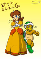 Princess Daisy and Hammer Bros by doctorWalui
