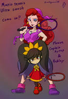 Captain Syrup and Ashley in Mario tennis by doctorWalui