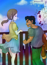 Little Man and Wii Fit Trainer by doctorWalui