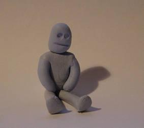 Blu-Tack Man I by nozzer
