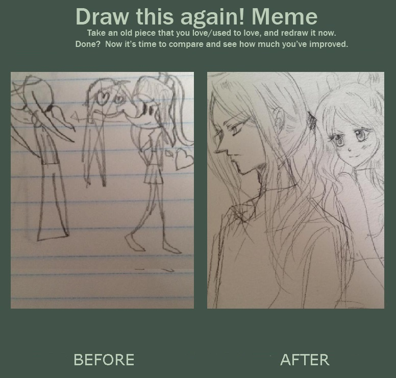 Draw Again - Sketch ver. Meme by vampiresongka