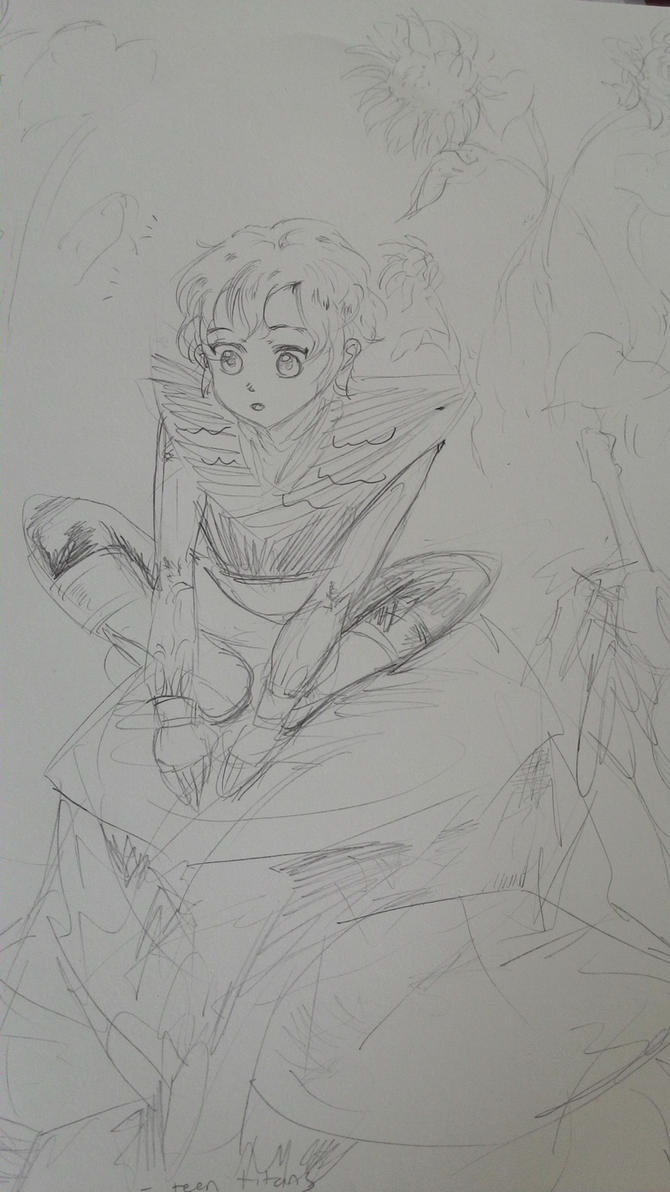 Jericho Sketch by vampiresongka