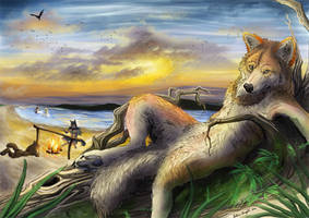Day's End by Aunumwolf42