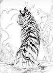 Melting tiger