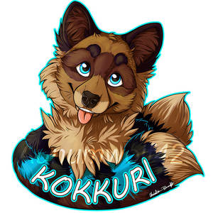 Kokkuri badge [commission]