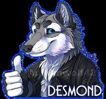 Desmond digital badge [commission]
